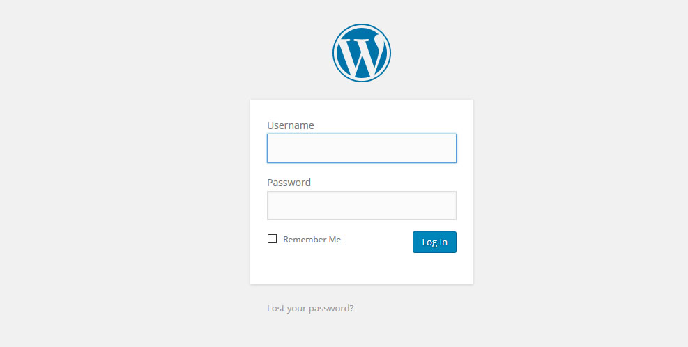 wordpress admin login - wp-admin