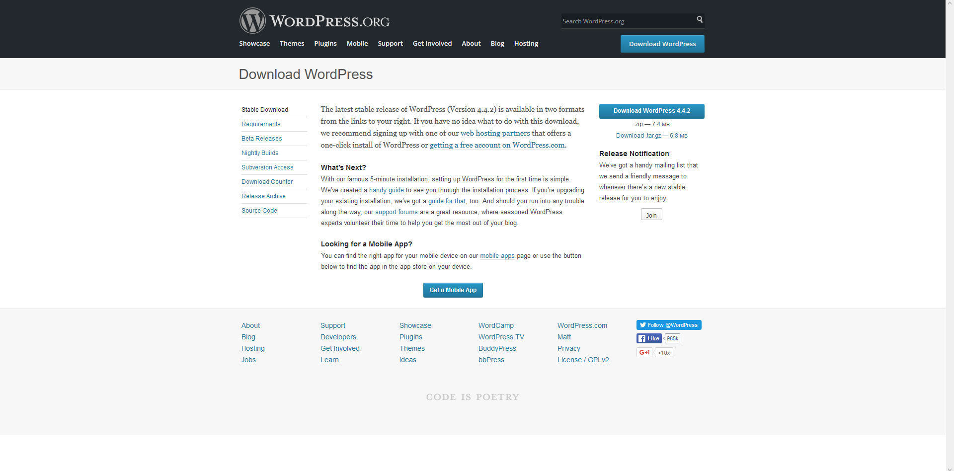 Download wordpress page